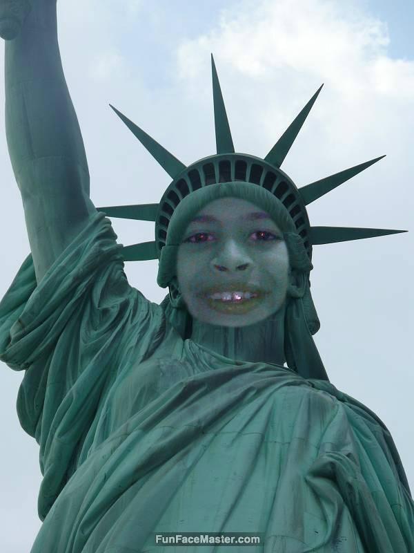 تمسال الحريه use statue liberty template put your face in fun photo