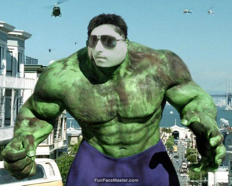 musa use the hulk template put your face in fun photo