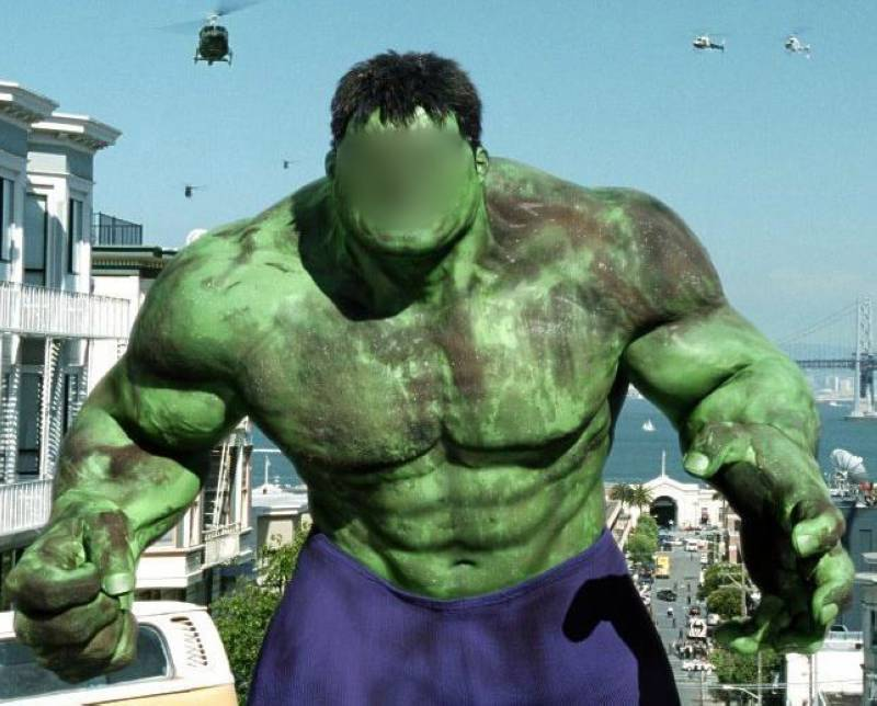 The Hulk Put Your Face On Funny Picture